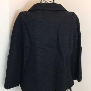 Ann Taylor Black 100% Wool 4-Button Blazer Size 12